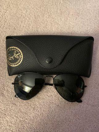 RayBan Aviator Sunglasses (Black)