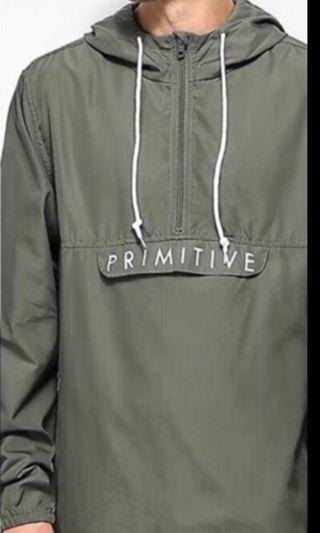 Primitive Skateboaring 軍綠風衣