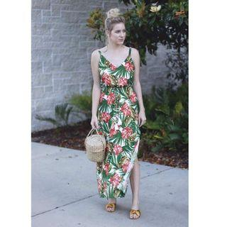 Floral Maxi Dress with Slit