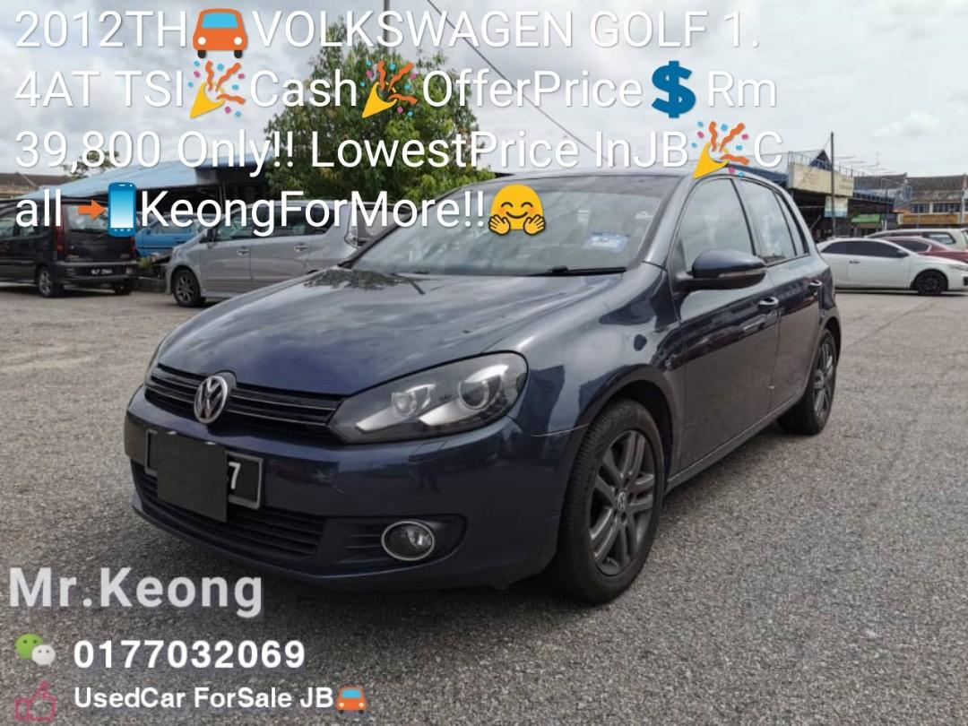 2012TH🚘VOLKSWAGEN GOLF 1.4AT TSI🎉Cash🎉OfferPrice💲Rm39,800 Only‼LowestPrice InJB🎉Call 📲KeongForMore‼🤗