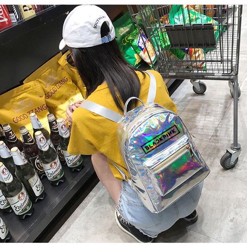 Blackpink Laser Hologram Holographic Mini Backpack / Bag
