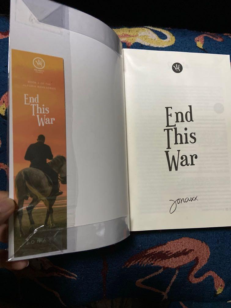 "book 3 of the alegria boys series ""End this war"" by Jonaxx (Wattpad book)"