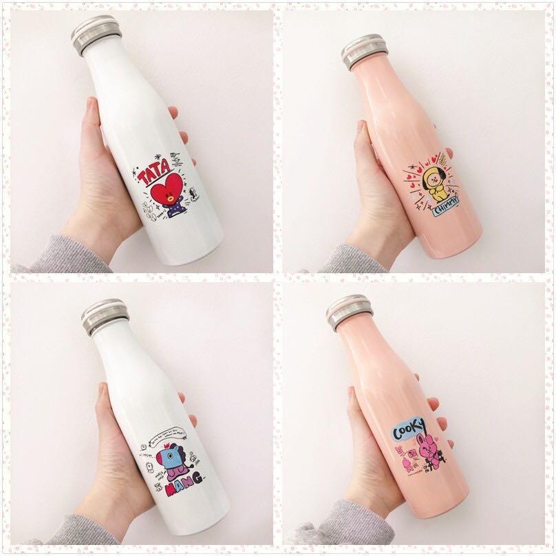 BT21 BTS Thermos Flask / Stainless Steel Metal Flask / Water Bottle / Vacuum Flask