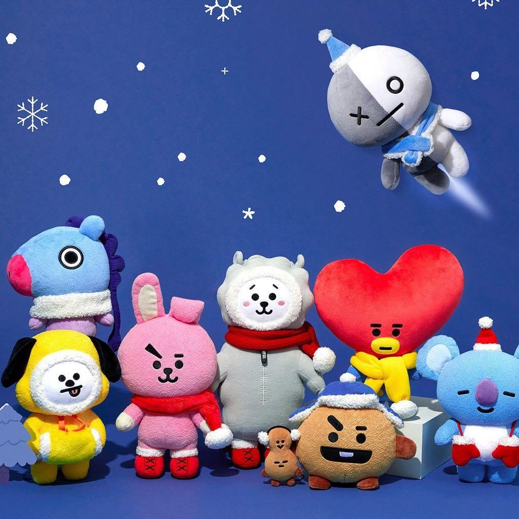 BT21 BTS Unofficial Christmas Edition Standing Doll / Plush