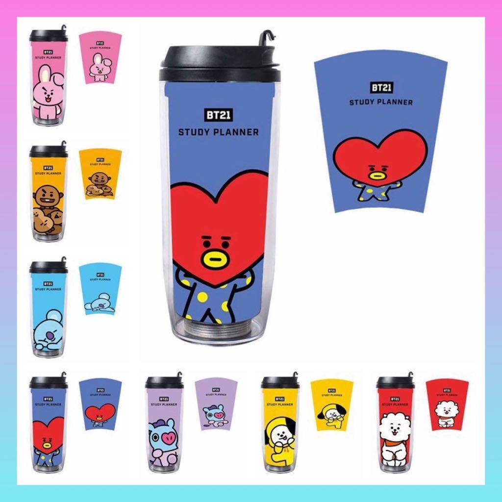 BT21 BTS Water Tumbler / Water Bottle / Flask / Drinking Cup