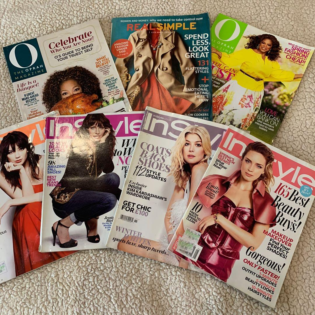 Bundle Sale! 7 Piece Oprah and Instyle Fashion and Lifestyle Magazines