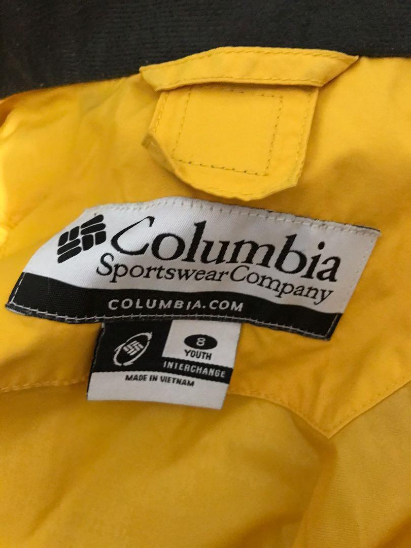 Columbia 童版Size 8防風防潑水連帽外套,肩+袖58、長58公分