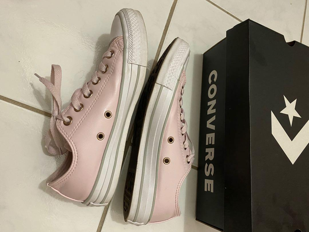 Converse Pink/Rose Gold/White Size US 7 Chuck Taylor Low Top shoes