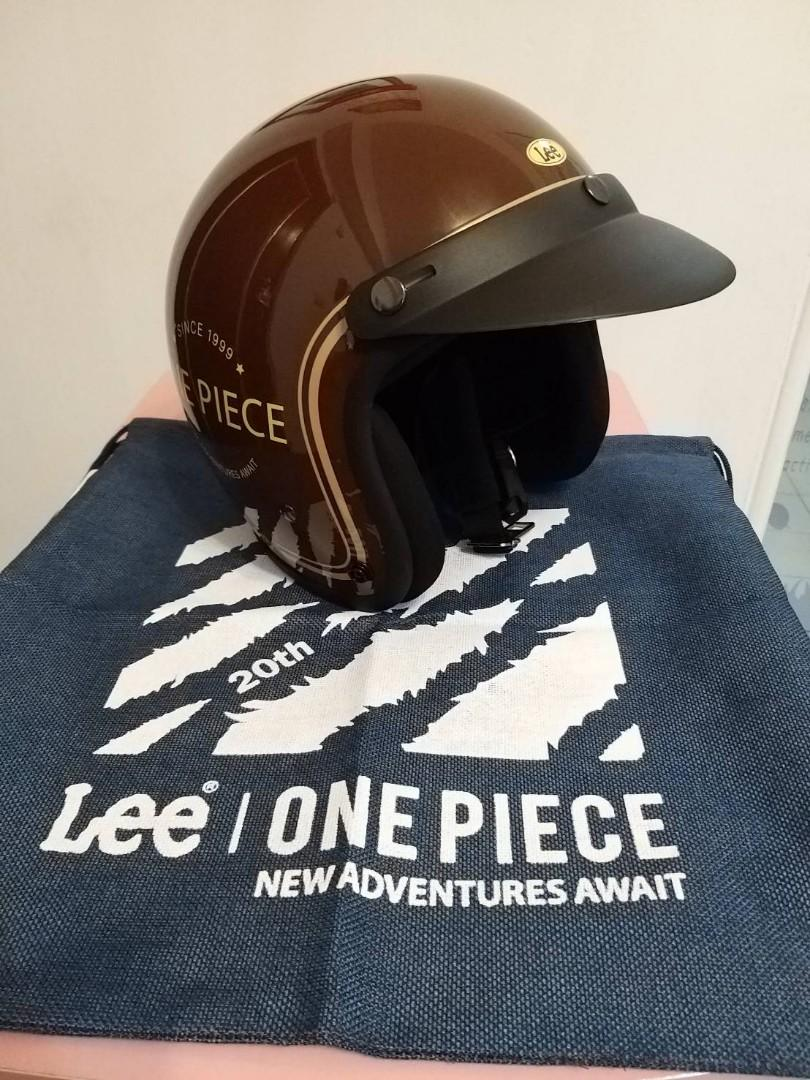 Lee x one piece 限定安全帽 頭盔 海賊王安全帽 one piece頭盔 (附袋)