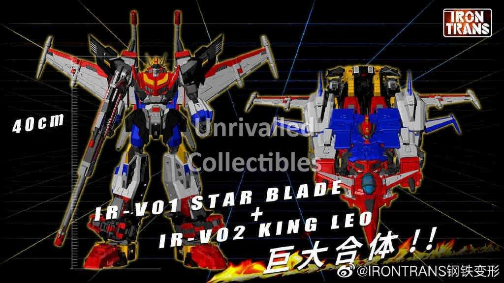 IN HAND IRONTRANS IRON TRANS IR-V01 STARSABER MP Scale Action Figure