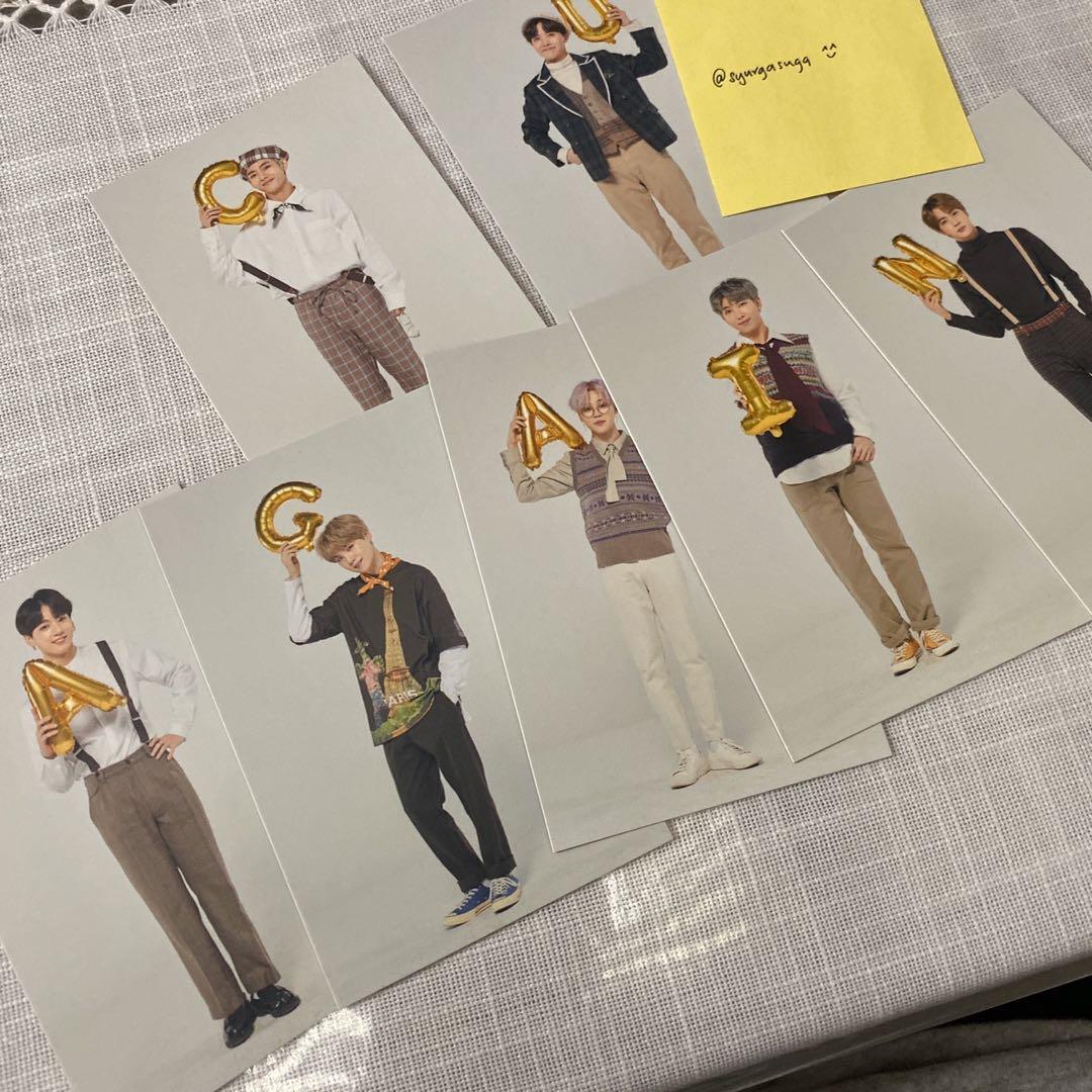 RARE! BTS Muster Magic Shop Playzone Wish Tree Photocard (Suga ver)