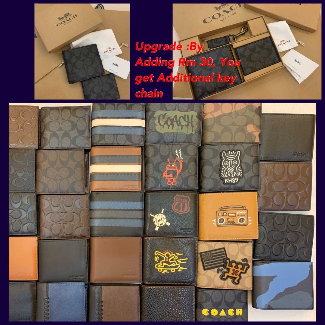 Ready Stock Authentic coach men wallet purse 74993 gift set