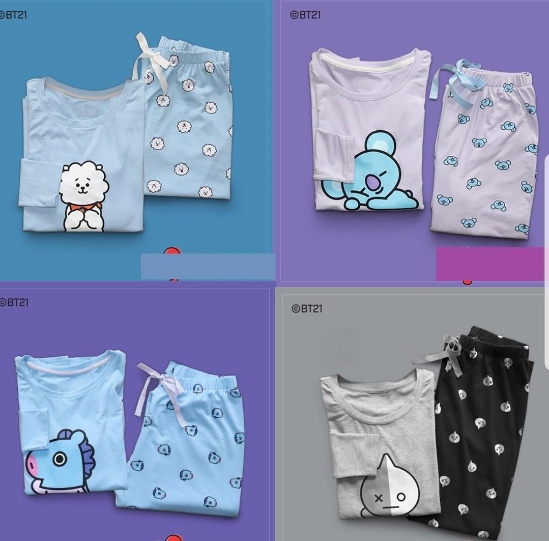 SALE bt21 pyjamas FREE SHIPPING bts official sleep t-shirt pants