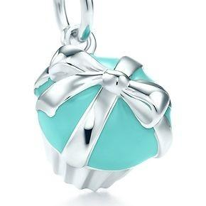 Tiffany and Co Silver Cupcake Charm with Silver Necklace Chain