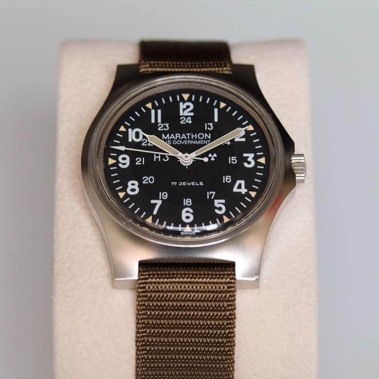 U.S. Military issued Marathon GG-W-113 issued DEC 1984 manual-wound military watch in excellent condition