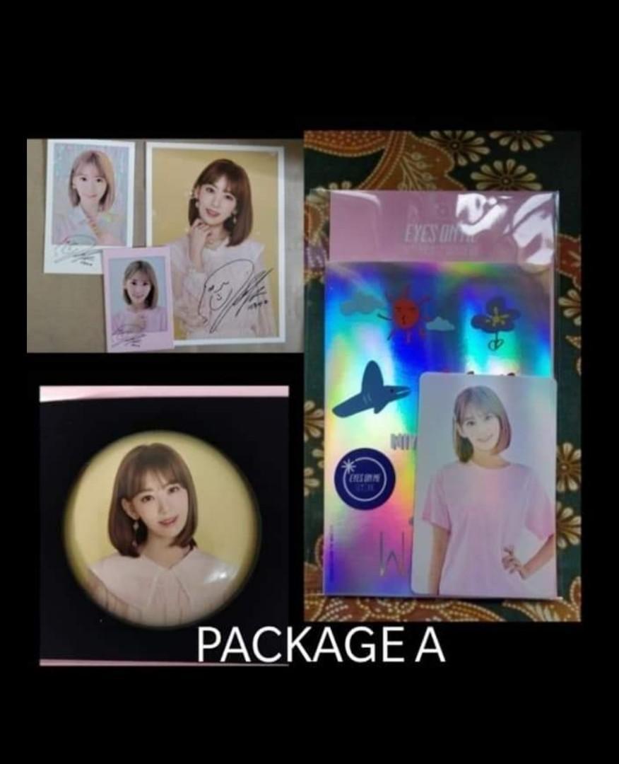 WTS IZ*ONE OFFICIAL MERCHANDISE EYES ON ME CONCERT SAKURA SET