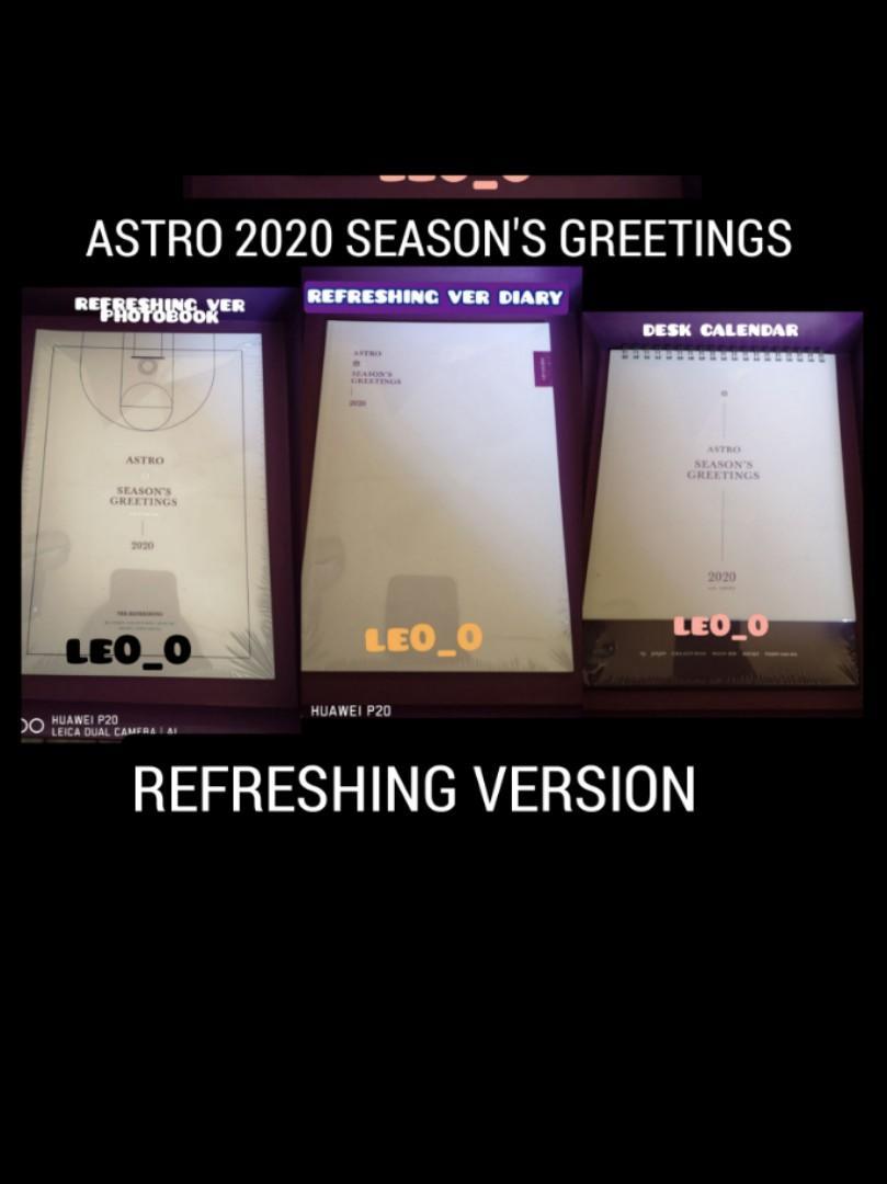 WTS READY STOCK ASTRO 2020 SEASON'S GREETINGS LOOSE ITEM REFRESHING VERSION