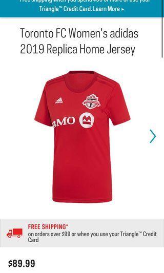 Women's TFC jersey size small