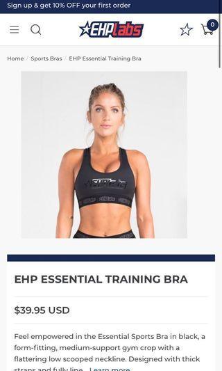 EHPlabs sports bra size small