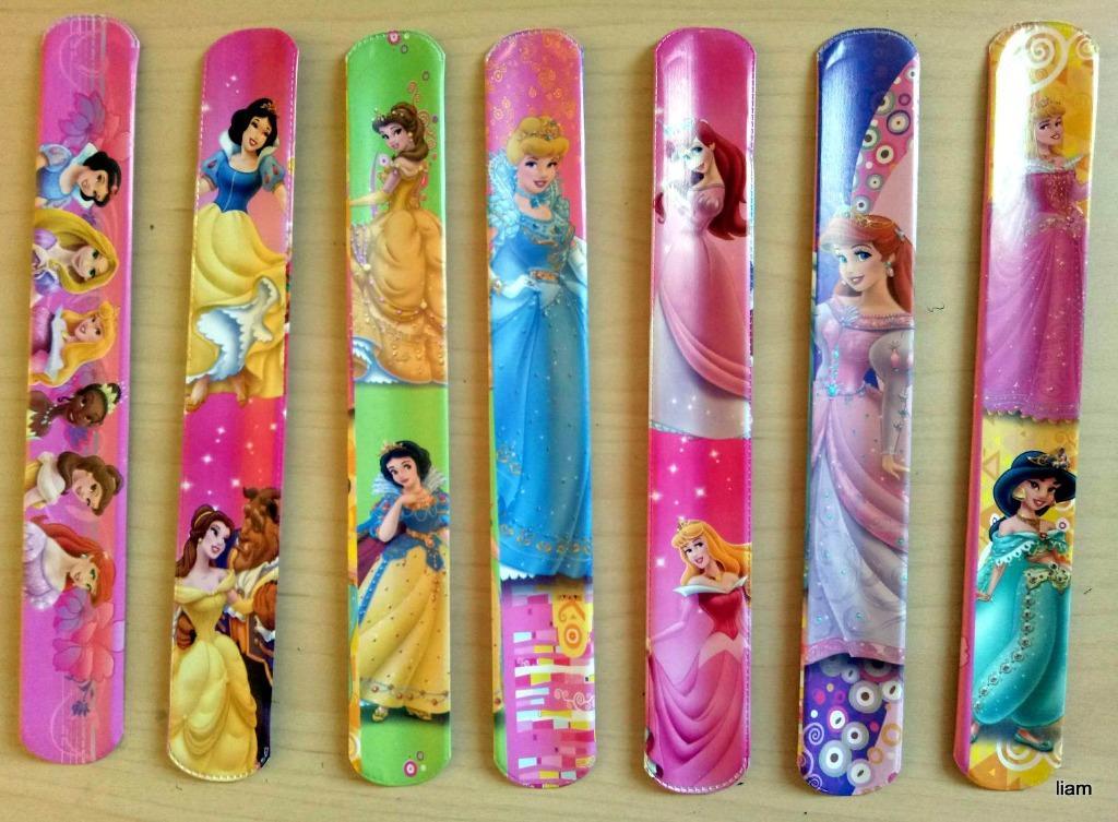 10 pcs Disney Princesses Slap Bands Birthday Party Favors Lolly Bag Filler