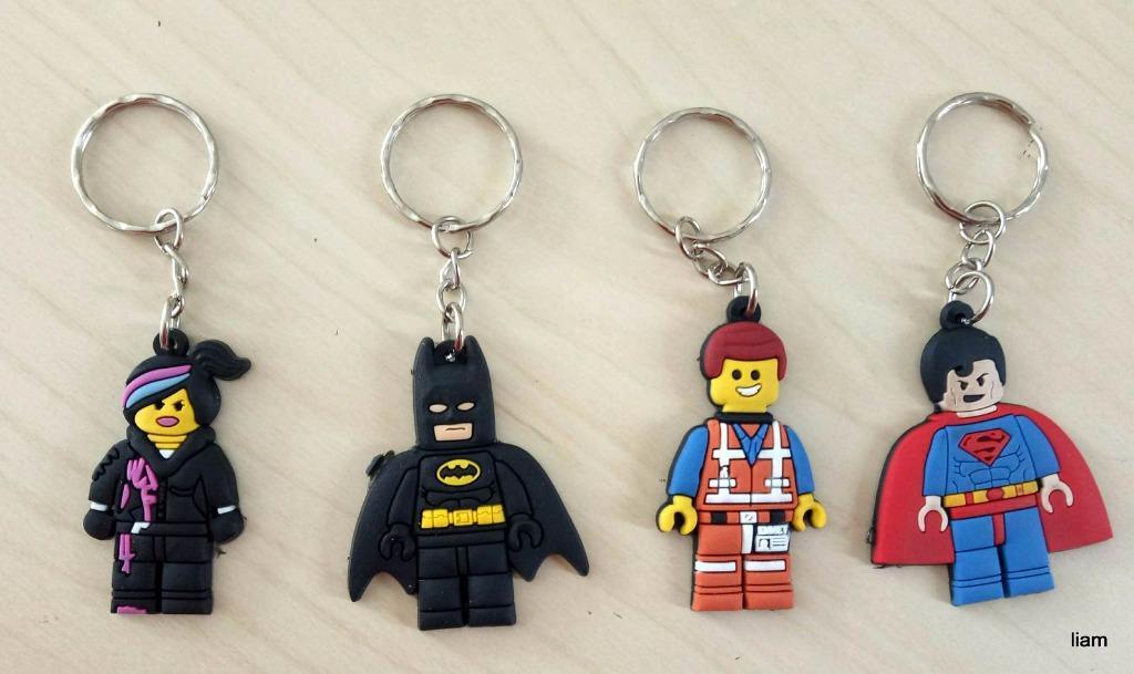 10 pcs Lego Movie key rings Keyring school bag tag birthday party favors