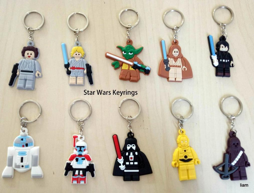10 pcs Star Wars key rings Keyring school bag tag birthday party favors