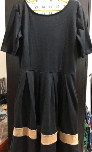 Forever 21 - Black Baby Doll Dress (with pockets)