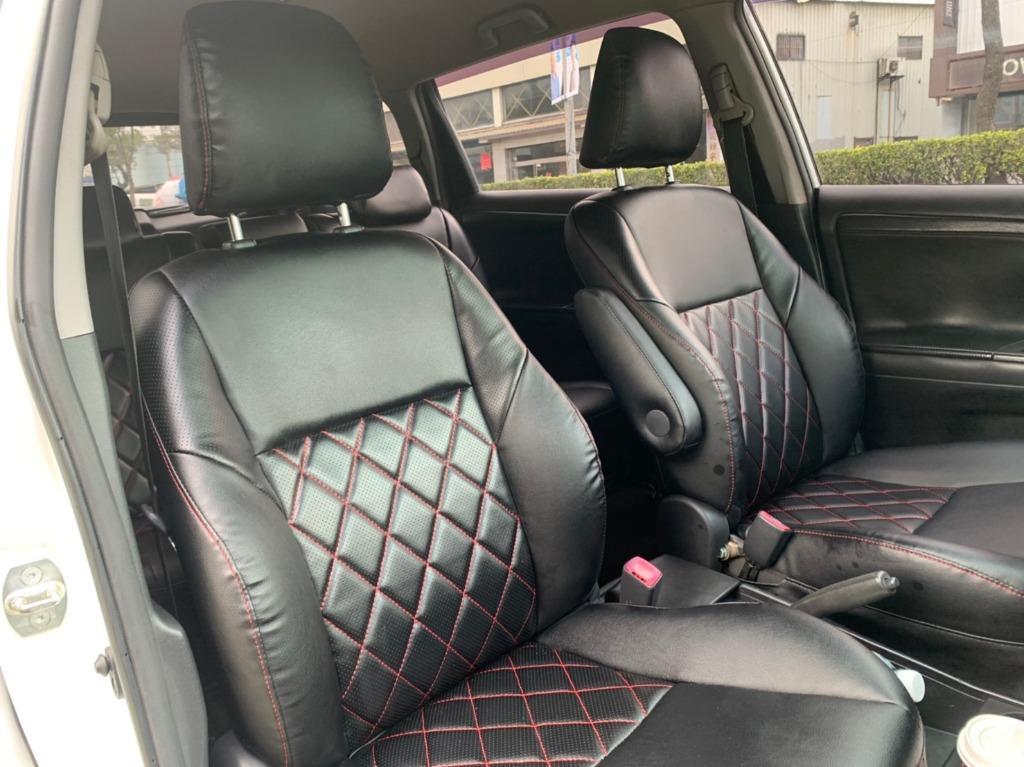 正2012年 最新款Toyota Wish 2.0E高階運動紅縫線格陵紋皮椅版