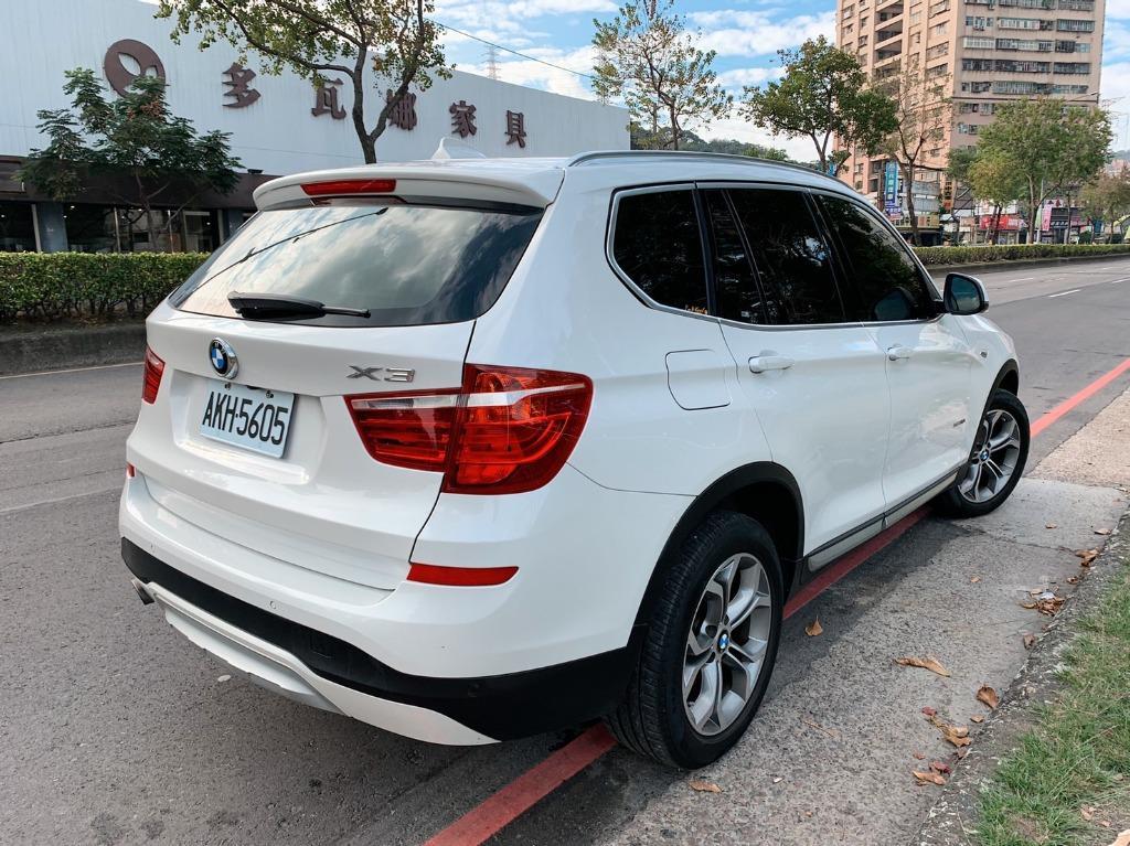 正2016年出廠 總代理一手車頂級 BMW X3 XDrive2.0i 領航版 星燦白