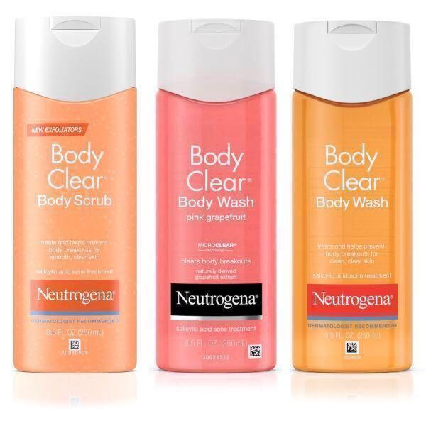 Acne Treatment Neutrogena Salicylic Acid Clear Body Wash Health