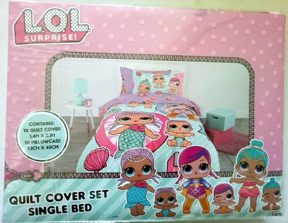 Brand New LOL SURPRISE Single Bed Quilt Doona Duvet Cover Set