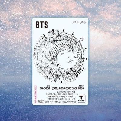 BTS t-money card Official limited edition t money jungkook suga namjoon jin