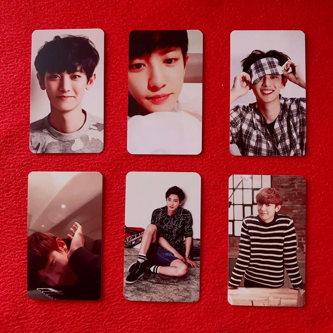(ALL) CHANYEOL EXO PHOTOCARD (2016 Calendar behind with all EXO members birthday logo)