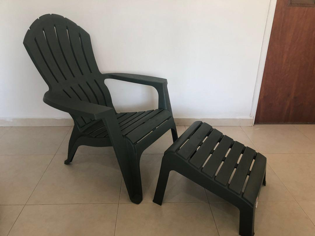 Comfortable Outdoor Chair With Leg Rest Furniture Tables Chairs On Carousell
