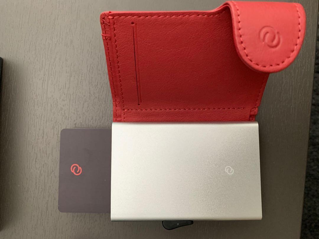 C-Secure Italian Leather Wallet (Rubino D61521) slim card sleeve holder pouch unisex cardholder