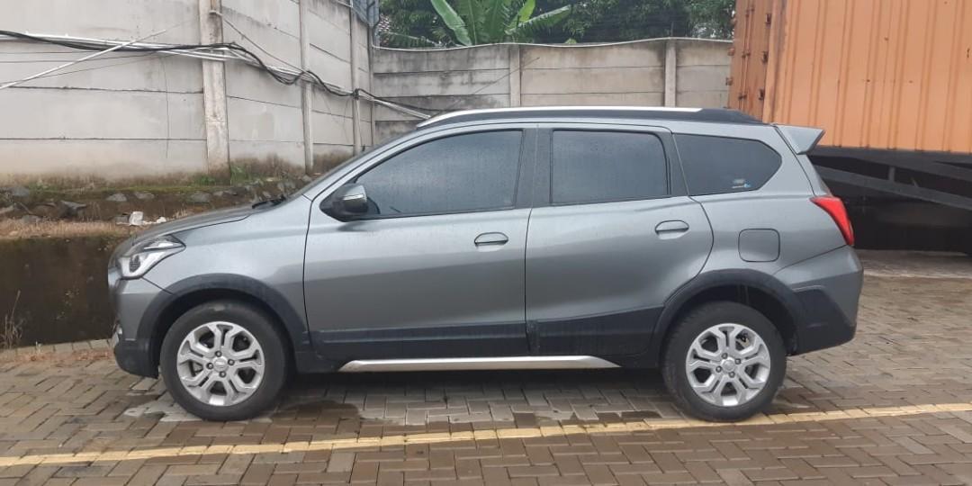 Datsun cross AT 2018 pemakaian 2019 mewah murah brio mobilio kalya agya ayla march fiesta avanza xenia rush terios