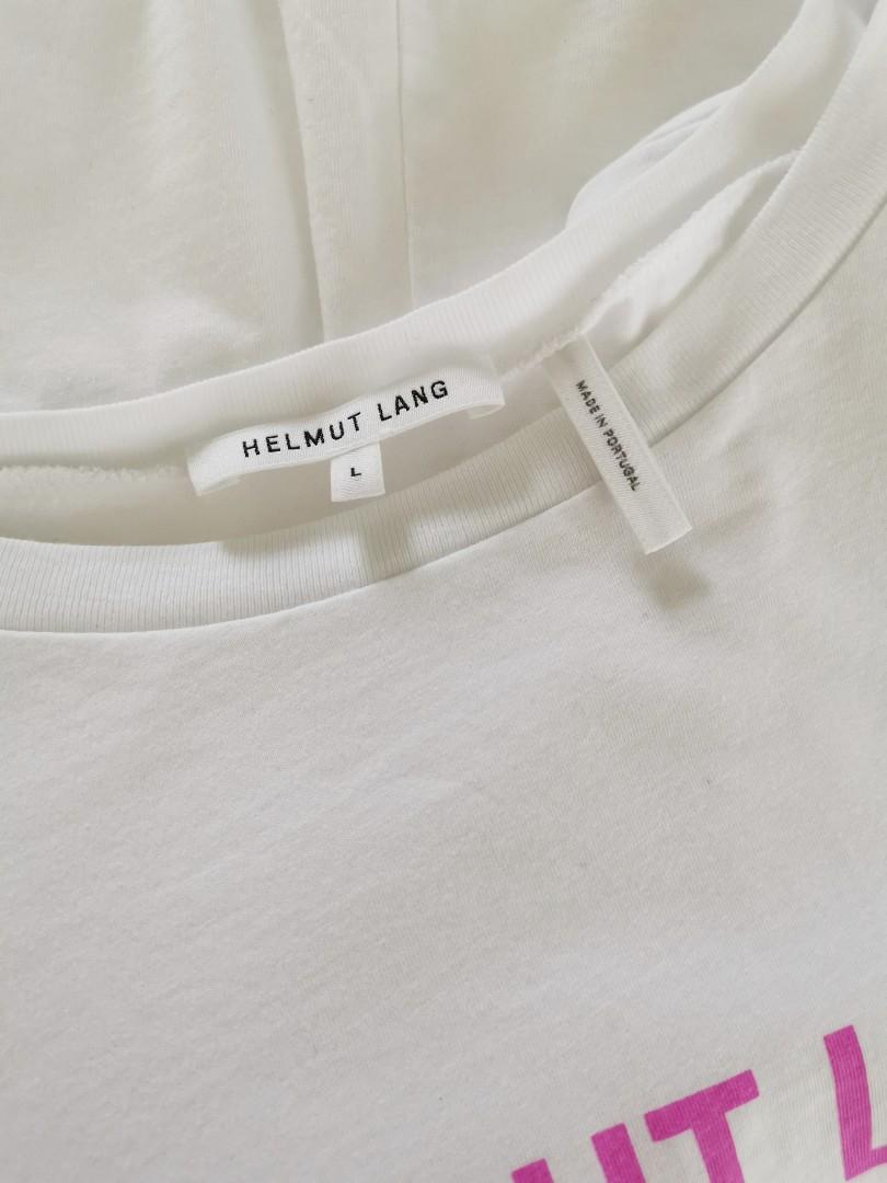 Helmut Lang Baby Logo Tee in Pink - Size L RRP $210