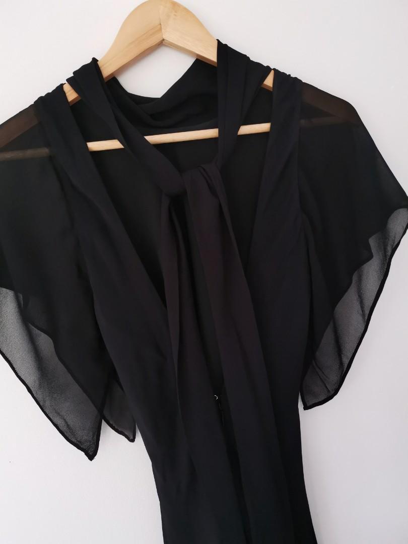 LOVER the label Serene Midi Dress in Black - Size 6 RRP $650 Current season!