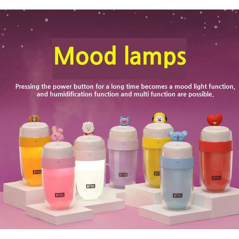 [PREORDER] OFFICIAL UNIVERSTAR BT21 LED Mini Humidifier