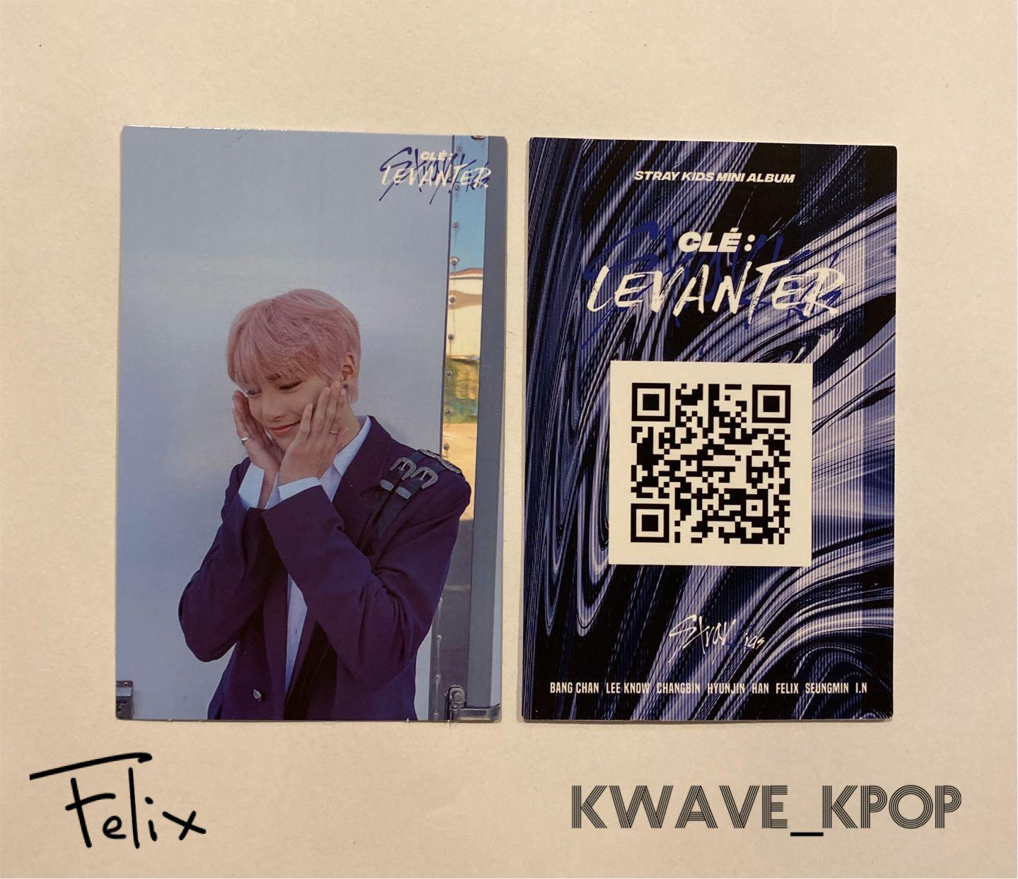 STRAY KIDS CLE : LEVANTER - OFFICIAL PHOTO CARD /LIMITED EDITION LENTICULAR CARD