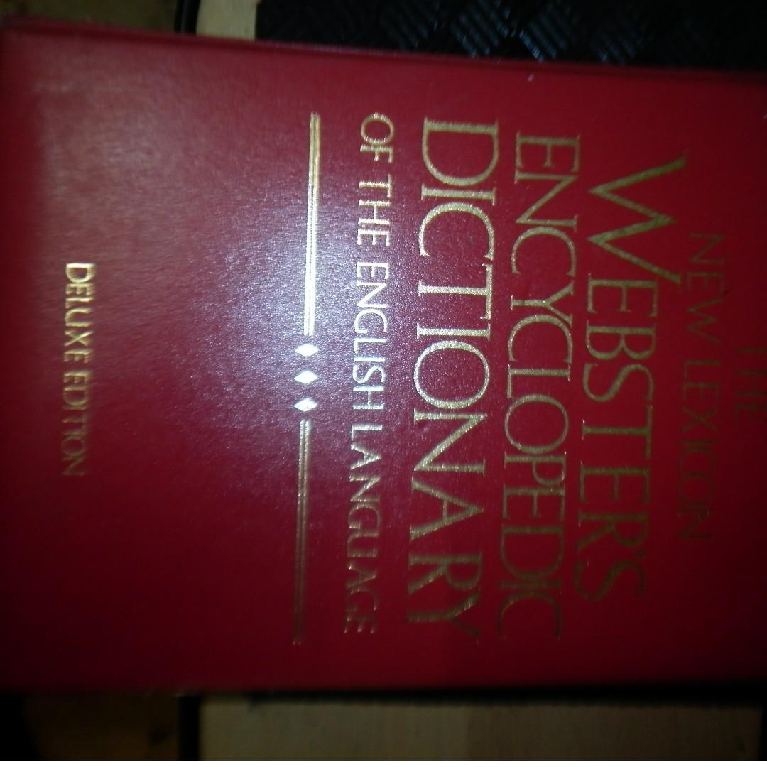 The new Lexicon WEBSTER ENCYCLOPEDIA DICTIONARY of the English Language Deluxe Edition