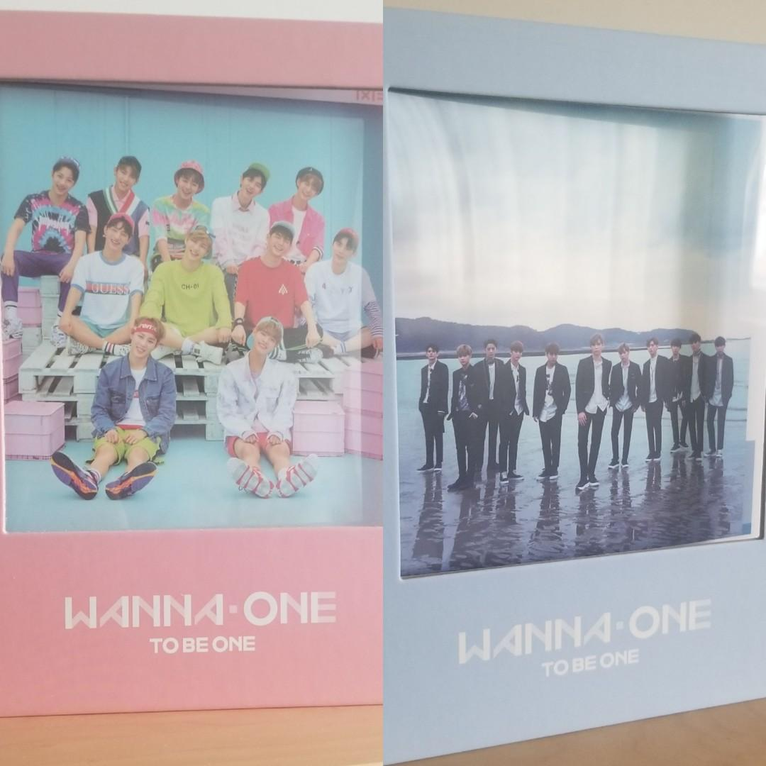 """Wanna One Debut Albums """"To Be One"""" 1st Mini Albums Pink & Sky Versions"""