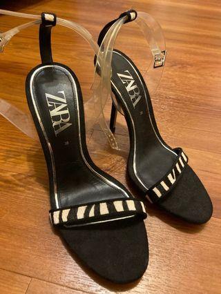Zara性感斑馬紋跟鞋