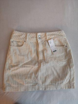 Urban Outfitters Corduroy Cream Skirt Size S