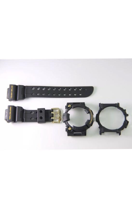 100% Authentic new Casio G-Shock Black Gold Frogman GWF-1000G-1JR Band Bezel & Back cover set limited edition