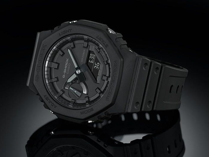 100% Authentic New Casio G-Shock Stealth Black Carbon core guard GA-2100-1A1 ga2100 AP offshore Royal Oak Hublot lookalike watch