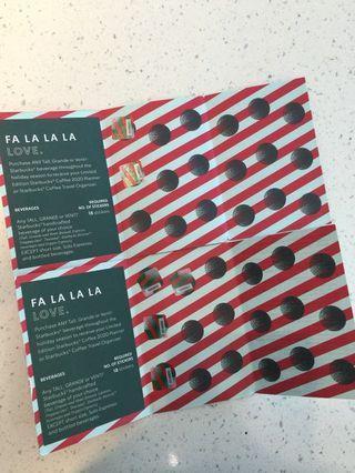 8 Stickers Starbucks Paper Promo Card - 2020 Planner