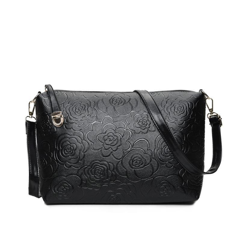 6 Piece Set Hot PU Leather Women Bags Floral Printing 5 Pcs Set Women Handbags Purse Cultch Composite Messenger Bags