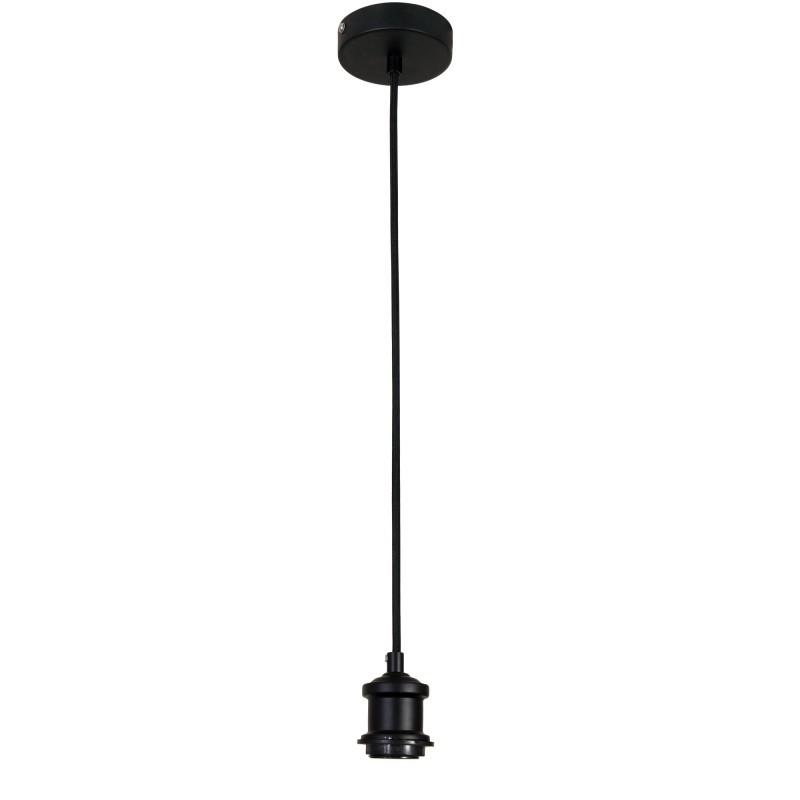 Albany 1 Light Cloth Ceiling Light Suspension Black - OL69321BK