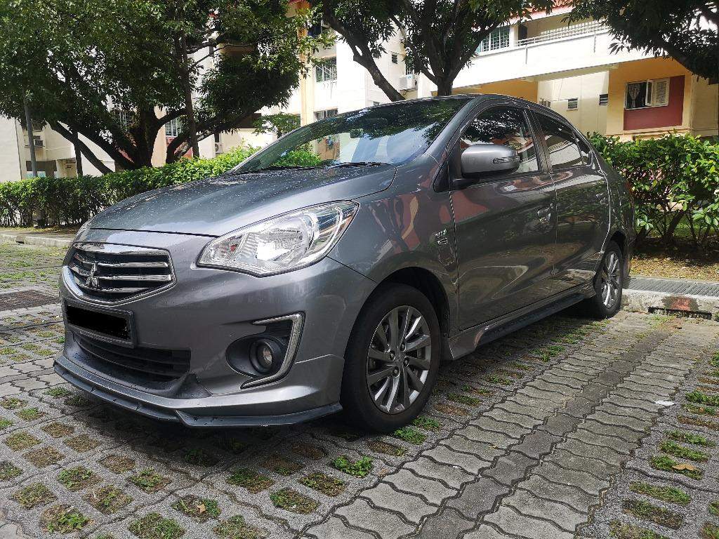 Almost New Mitsubishi Attrage sports 1.2A for rent for PHV or Normal
